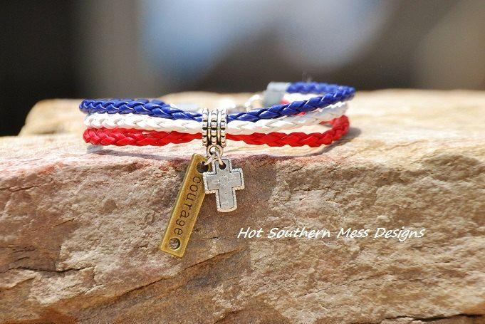 patriot+bracelet++cross+by+hsmd+on+Etsy,+$14.00