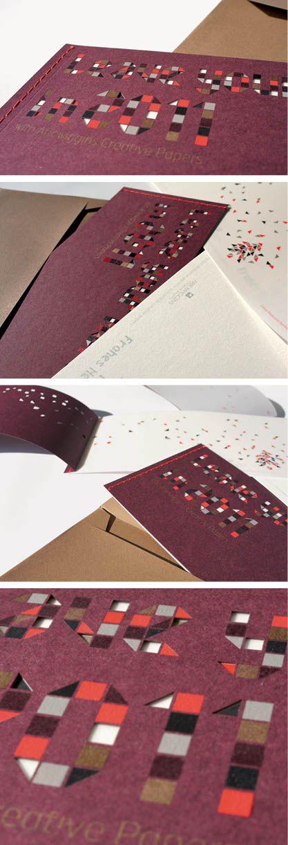 Design graphique : conception originale de la carte de voeux Arjowiggins Creative Papers 2011. A l'époque, le studio s'appelait Les Cocottes en Papier