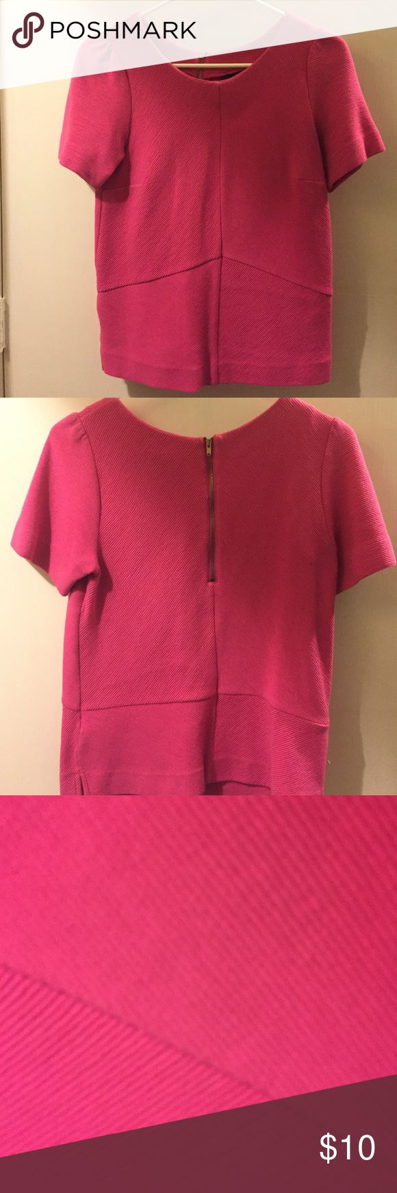 Pink Short Sleeved Top Perfect condition. No stains or snags. Heavy material so it's very warm. Worthington Tops Blouses