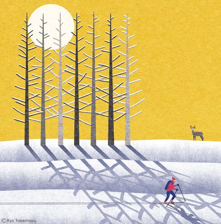 祥伝社の小説誌『小説NON』2015年1月号の表紙イラストレーションを担当しました。 Cover illustration for NON magazine, January 2015 issue.