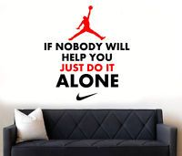 Michael Jordan Quote Basketball Boys/Girls NIKE Bedroom Wall Art Sticker/Decal