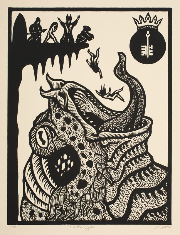 Tsathoggua | The Art of Liv Rainey-Smith