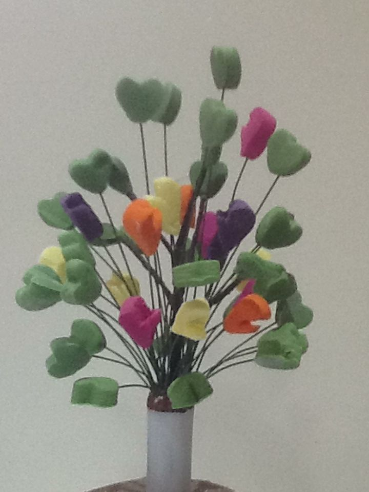 Fondant tree - made from Hands and Hearts - for Gary and Kyle's adoption cake