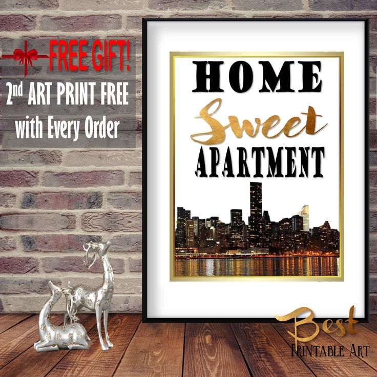 Modern Apartment Art, Home Sweet Apartment, New Apartment Decor, New Apartment Gift, Gift New Apartment, Apartment Decor, First Apartment by BestPrintableArt on Etsy