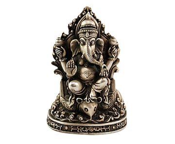 Figura de metal Ganesha Guo - plateado
