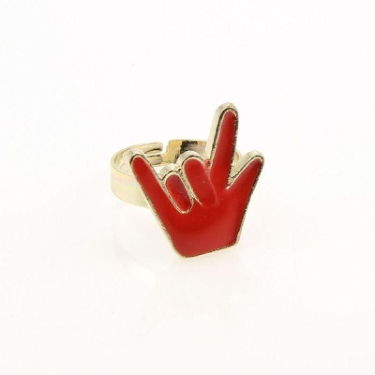 Gyűrű fém színes10/F