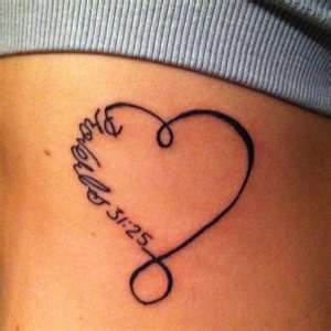 Tattoos / I like this heart. I was thinking - instead of the bible verse, put mom's initials?!?!