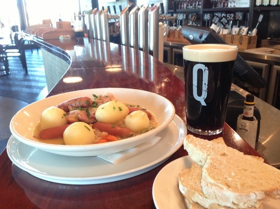 St Patricks Day Special - Traditional Dublin coddle w/ warm soda bread & a pint of Guinness.