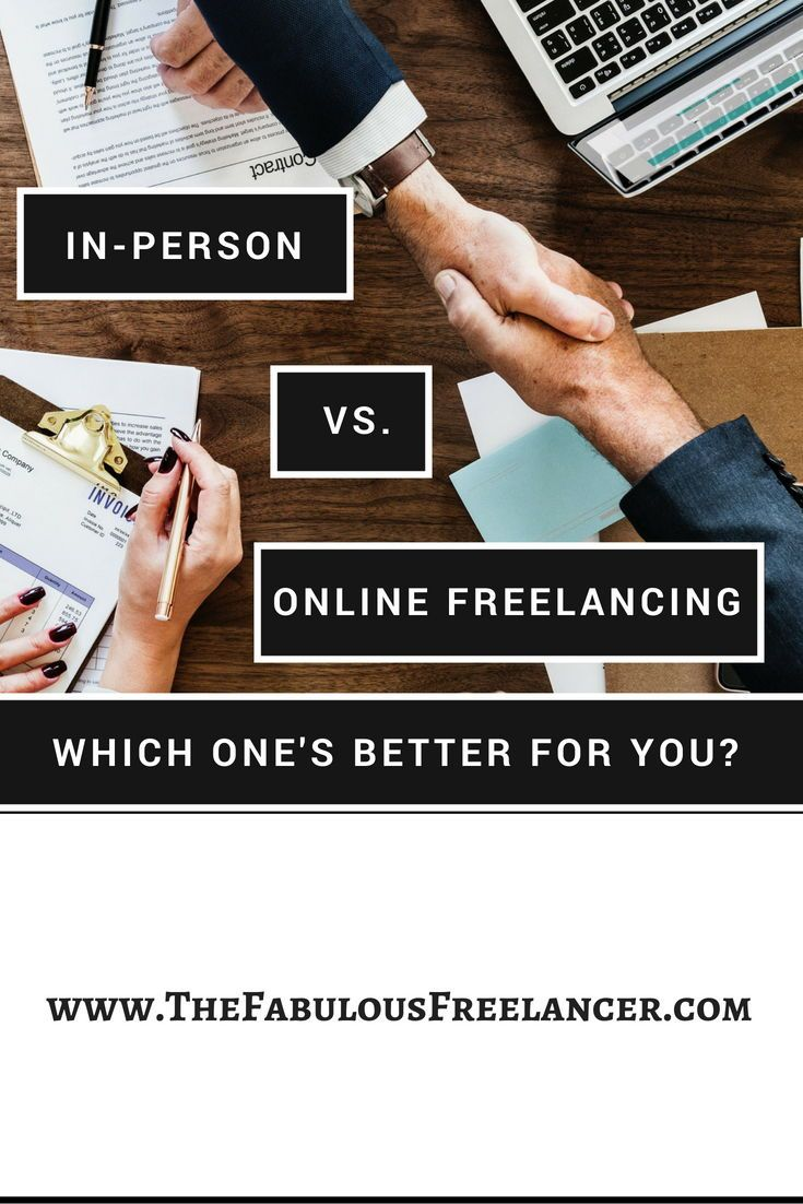 Whether you choose to focus on in-person or online