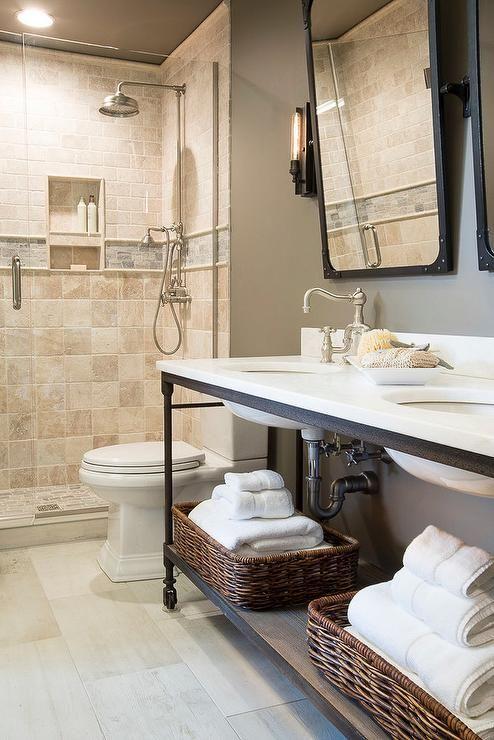 Best 25 Industrial Bathroom Mirrors Ideas On Pinterest
