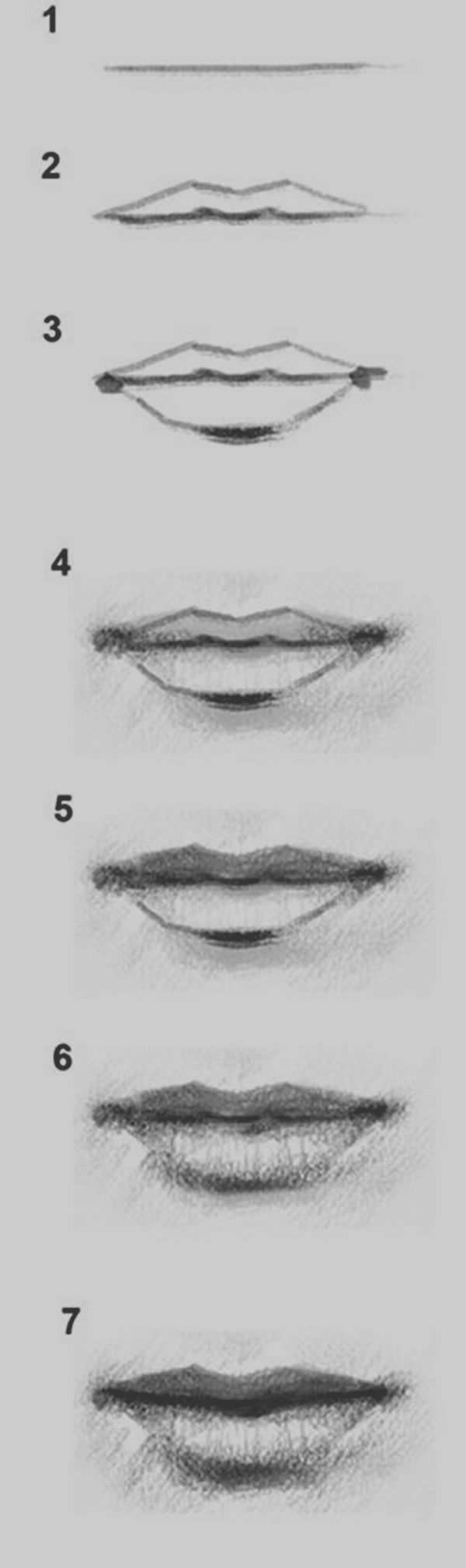 how to draw mouths step by step easy