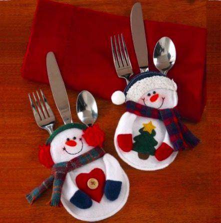 Manualidades Navideñas para guardar cubiertos, 3 modelos Más