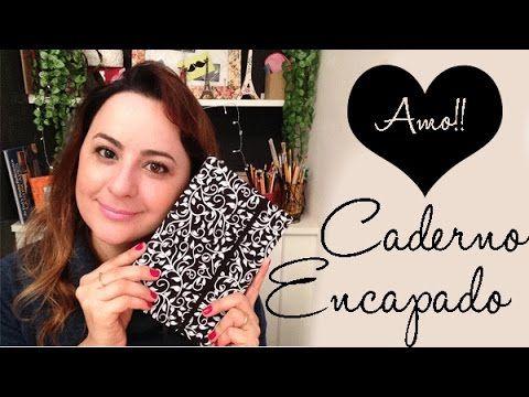 DIY: CADERNO ENCAPADO COM TECIDO , por Camila Camargo                                                                                                                                                      Mais