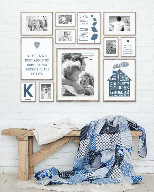 Inspiration Wall Collage- Inspo Wandcollage. Family-prints online selber machen bei Printcandy
