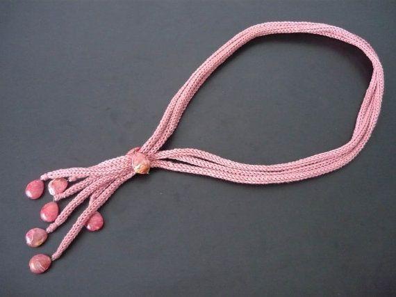 Gehaakte ketting met kralen tricotin sieraden sieraden