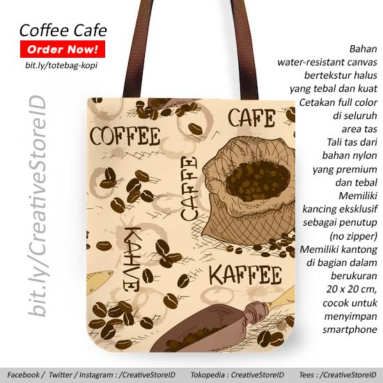 Totebag Kopi - Tees Indonesia for merchendise