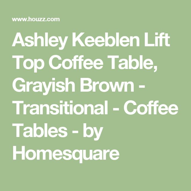 Ashley Keeblen Lift Top Coffee Table, Grayish Brown - Transitional - Coffee Tables - by Homesquare
