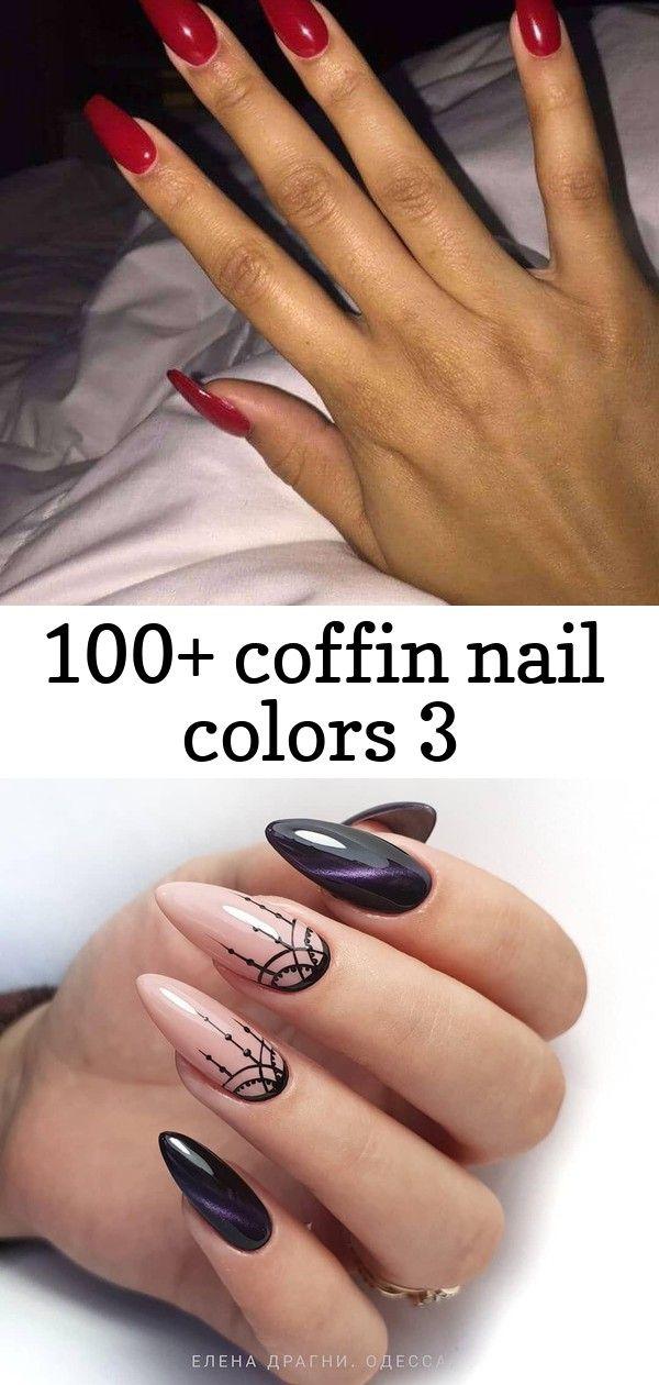 100 Coffin Nail Colors 3 Nail Colors Coffin Shape Nails Nails