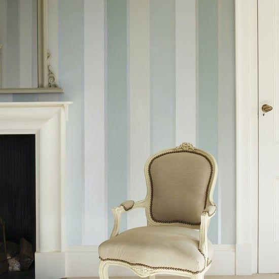 25 b sta stripe wallpaper id erna p pinterest for Eau de nil bedroom ideas