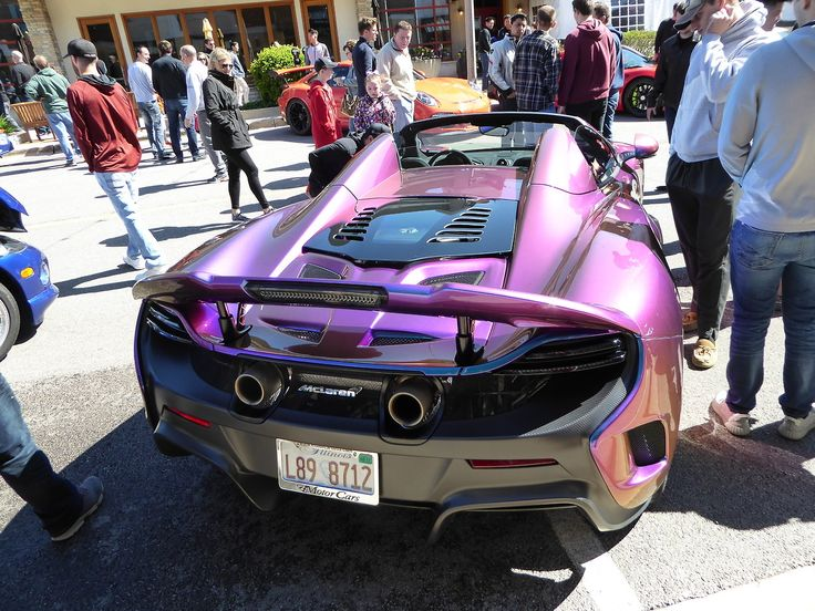 The paint job on this McLaren 675LT Spider is rumored to be an option that cost in the tens of thousands of dollars
