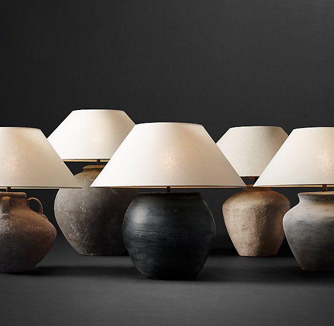 Dutch Ceramic Vessel Table Lamp Tapered Urn Table Lamp Design Modern Lamp Dutch Ceramic