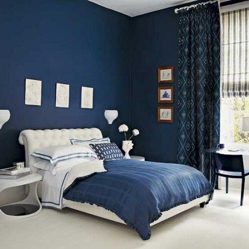 Blue And White Bedroom Design Picture