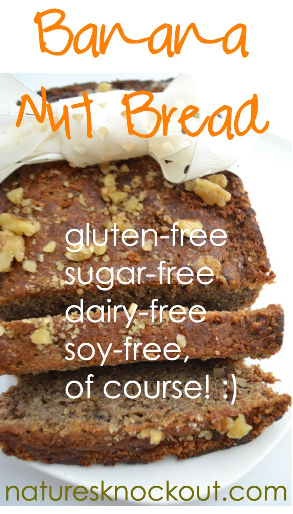 Best Banana Nut Bread Recipe Ever - grain-free, gluten-free, sugar-free, soy-free, dairy-free, paleo, southbeach and gaps dieters watch out!