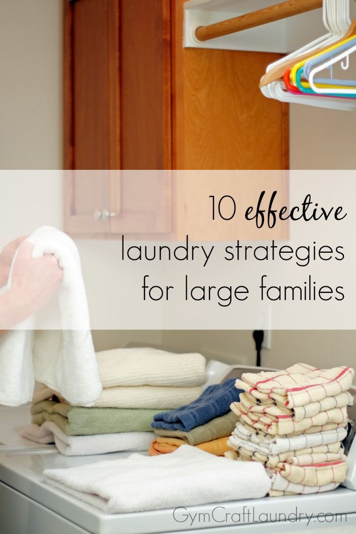 Doing laundry for one person can be daunting enough, but when you're doing laundry for 4 (or more) people, life can get crazy! Instead of getting overwhelmed with the amount of laundry headed your way, check out these 10 laundry tips for big families. 1o Laundry Tips for Big Families #1. Put together a schedule- …