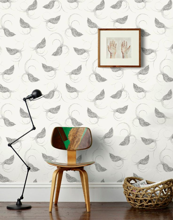 This wallpaper for the hallways Pajarito (Black) – Hygge & West