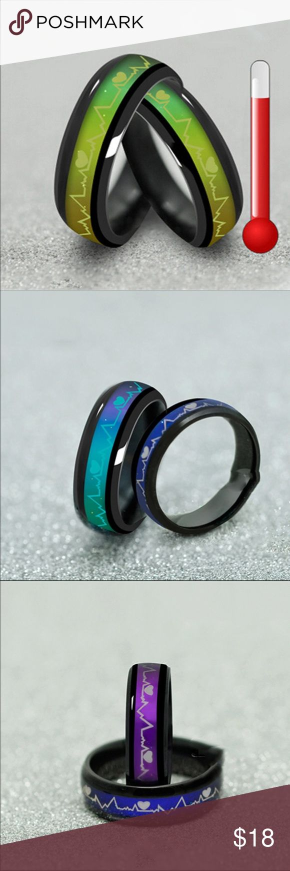 Titanium mood ring(size 7) Brand new in package, price is for one ring. Jewelry Rings
