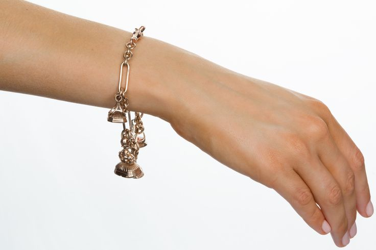 9k Rose Gold Fob & Seal Bracelet. A beautiful mix of old and new. The Jewellery Trading Company