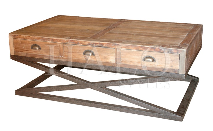 Pine x based coffee table with 6 drawers for the home pinterest pine coffee and coffee tables Pine coffee table with drawers