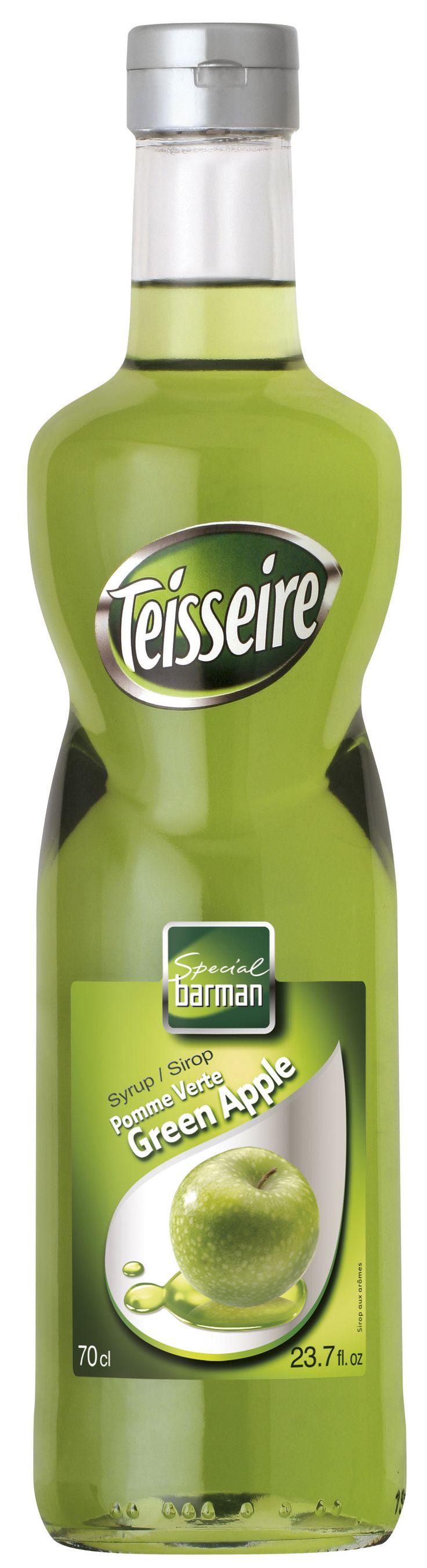 Σιροπι για κοκτέιλ, TEISSEIRE με γευση πρασινο μηλο green apple # Granikal.