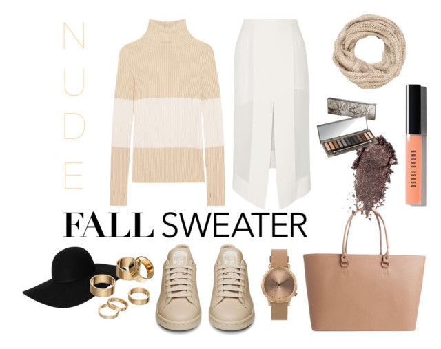 FALL IN NUDE by nove-windy on Polyvore featuring Fendi, Dion Lee, Pieces, Topshop, Apt. 9, maurices, Monki, Bobbi Brown Cosmetics, Urban Decay and Fall