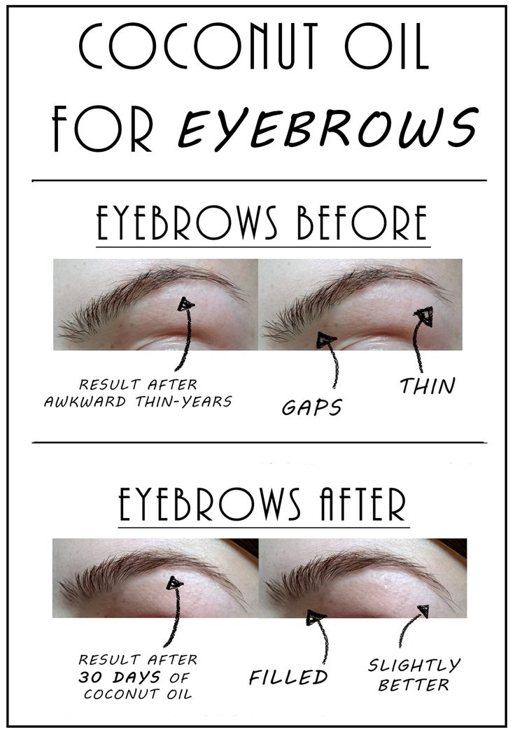 Coconut Oil For Eyebrows | The Fashion Folks