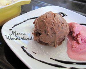 Nutella- & Erdbeerjoghurt-Eiscrème