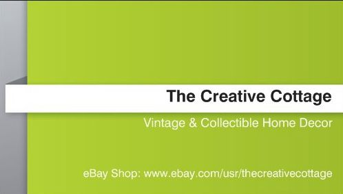122 best creative cottage ebay store images on pinterest hand reverse side of my business card to promote our ebay store thecreativecottage reheart Gallery