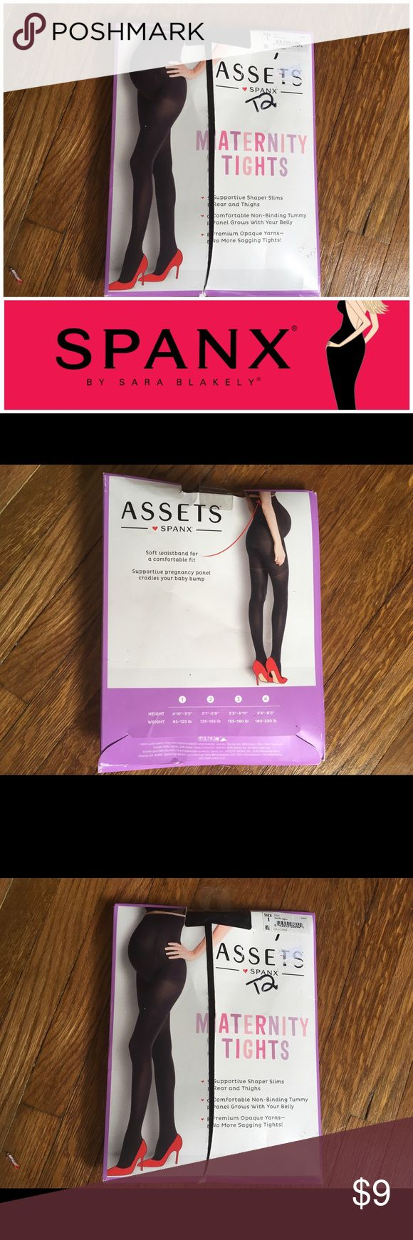 """NEW Maternity Tights Assets by Spanex - Size 1 Brand new, maternity tights in black, Assets by Spanex. Size 1 - between height 4'10"""" - 5'5"""" (95 - 125 lbs). Perfect for under clothes for extra support! Originally bought for a client, I'm currently cleaning out my client closets. Open to offers, especially on bundles. I give 15% off bundles of 3 or more. I give a free gift with every purchase! Your purchase goes towards the non-profit organization I'm founding. Come back often as I'm posting…"""