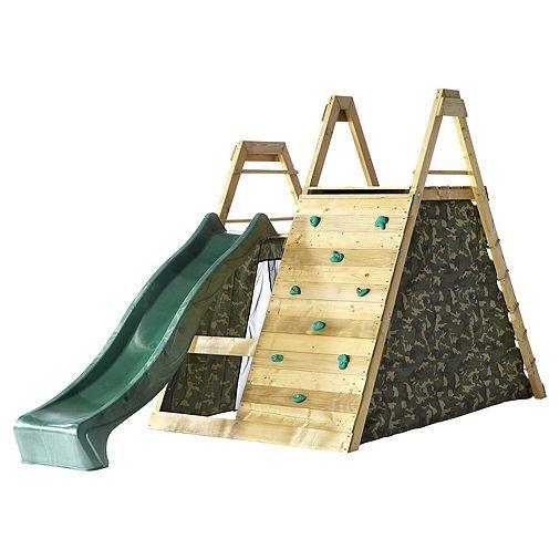 Tesco direct: Plum Climbing Pyramid Wooden Play Centre