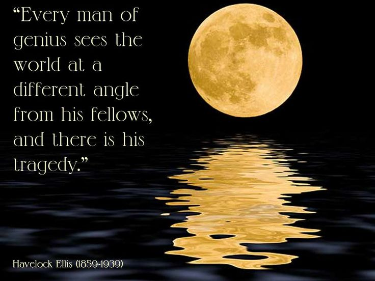 Every man of genius sees the world at a different angle from his ...