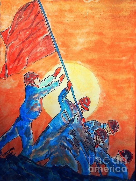 Victory watercolor panting #fineartamerica