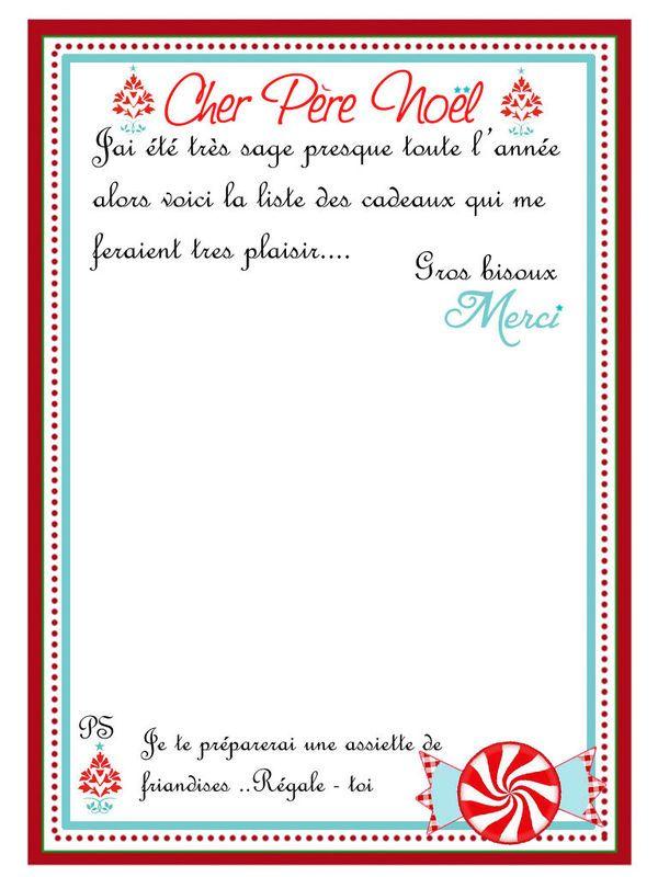 lettre au pre nol liste de cadeaux
