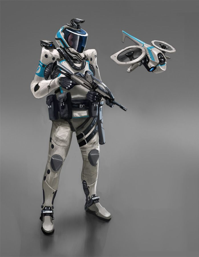 Future Soldier, Futuristic Warrior, Sci-Fi, Cyberpunk, Phalanx Trooper by ~Phade01 on deviantART