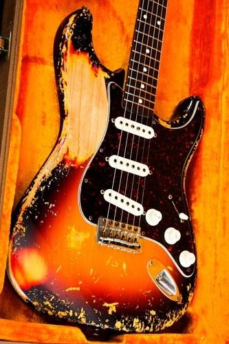 Fender Custom Shop Cunetto John Mayer esque Sunburst Relic Stratocaster Strat