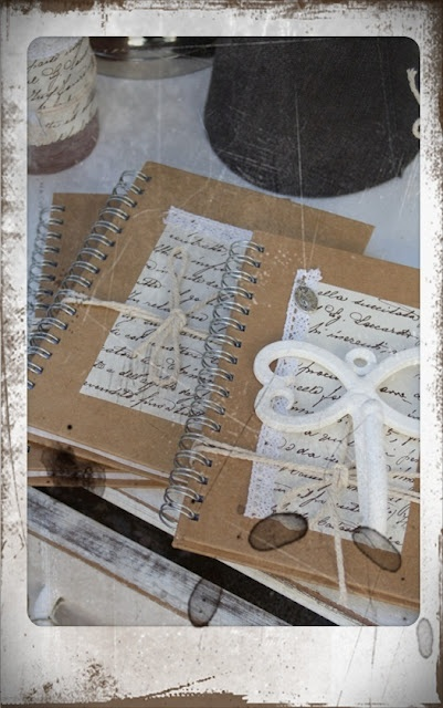 gorgeous journals & fabulous photo of them!