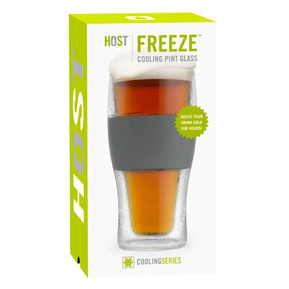 Great for New Year's Eve Parties ~ Host Freeze 16 oz Pilsner Pint Beer Chilling Glass Keeps Beer Colder Longer  ~ Whether your beverage of choice is beer, juice or a mixed drink, the FREEZE chills 16 ounces of anything. Made from BPA-free reusable plastic, it is less fragile than a pub glass so you can drink carefree. After just 2 hours in the freezer, the cup's built-in proprietary cooling gel will do the rest and keep your drink chilled for hours.