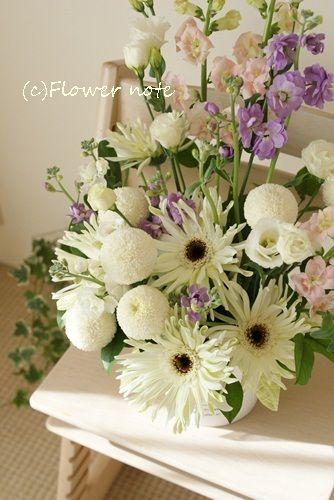『【供花】冷たい朝に・・・』 http://ameblo.jp/flower-note/entry-11472339894.html