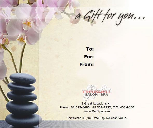 9 Best Massage Gift Certificates Images On Pinterest Gift
