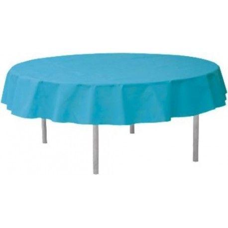 Nappe ronde turquoise intissé opaque 2M40