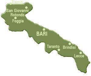 Puglia also known as Apulia is a perfect holiday destination in Italy. Cities in Puglia include Bari, Taranto, Foggia and Brindisi.